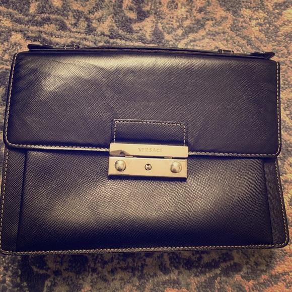 Authentic Versace black clutch